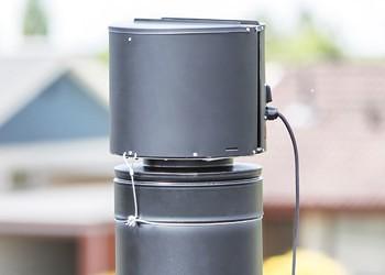 draftbooster black on chimney