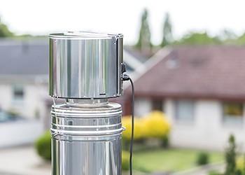 draftbooster silver on chimney